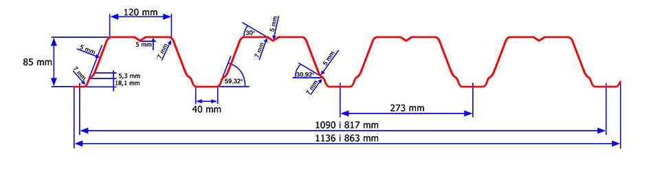 Florprofile blachy trapezowe - Blacha trapezowa TR84/273: http://www.florprofile.com/produkt-6.html